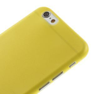 Ultra slim 0.3 mm plastové puzdro pre iPhone 6, 4.7  - žlté - 3