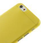 Ultra slim 0.3 mm plastové puzdro pre iPhone 6, 4.7  - žlté - 3/5