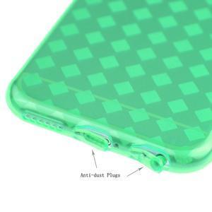 Gélové kostkované puzdro pre iPhone 6, 4.7 - zelené - 3