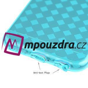 Gélové kostkované puzdro pre iPhone 6, 4.7 - modré - 3