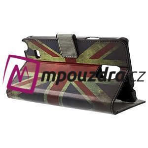 Peňaženkové puzdro na Samsung Galaxy Note 4- UK vlajka - 3