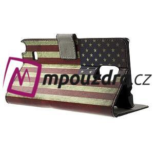 Peňaženkové puzdro pre Samsung Galaxy Note 4- USA vlajka - 3