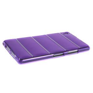 Gelové Body pouzdro na Sony Xperia Z1 C6903 - fialové - 3