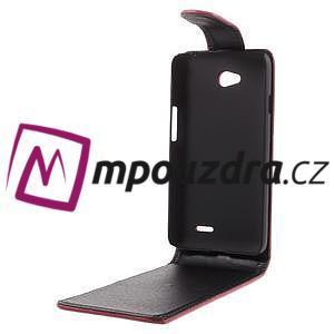 Flipové puzdro na LG L65 D280 - červené - 3