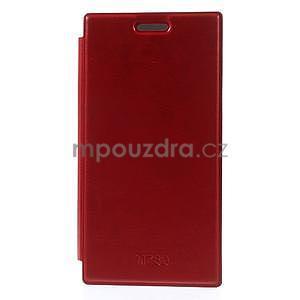 Flipové puzdro na Nokia Lumia 730 - červené - 3