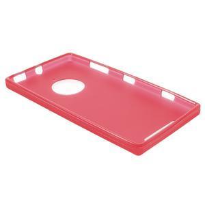 Gélové matné puzdro na Nokia Lumia 830 - červené - 3