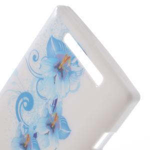 Gélové puzdro na Nokia Lumia 830 - modrá lilie - 3