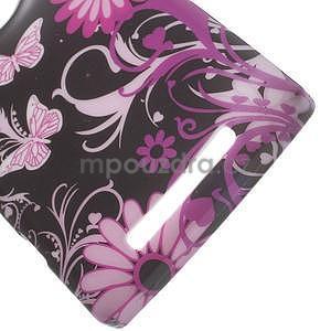 Gélové puzdro na Nokia Lumia 830 - motýl a květ - 3