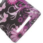 Gélové puzdro na Nokia Lumia 830 - motýl a květ - 3/5