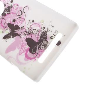 Gélové puzdro na Nokia Lumia 830 - kvet motýľa - 3