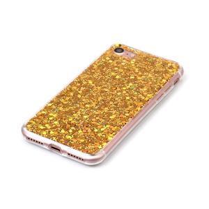 Trblietavý gélový obal na iPhone 7 a 8 - zlatý - 3