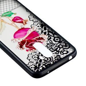 Lace gélový obal s plastovými zády pre Xiaomi Pocophone F1 - ruže - 3
