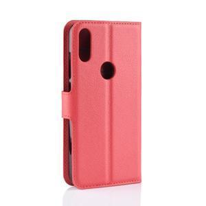 Stand PU kožené peňaženkové puzdro na Xiaomi Redmi Note 7 - červené - 3