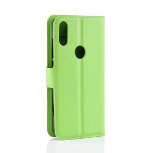 Stand PU kožené peňaženkové puzdro na Xiaomi Redmi Note 7 - zelené - 3