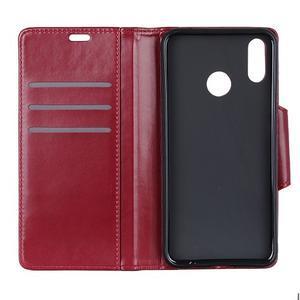 Wallet PU kožené peňaženkové puzdro na Xiaomi Redmi Note 7 - červené - 3