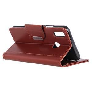 Wallet PU kožené peňaženkové puzdro na Xiaomi Redmi Note 7 - hnedé - 3