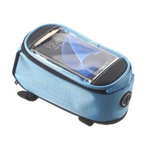 Brašna na kolo s úložným prostorem pro mobily do rozměru 138,3 x 67,1 × 7,1 mm - modrá - 3