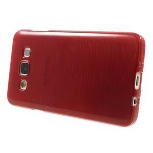 Broušené puzdro na Samsung Galaxy A3 - červená - 3