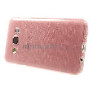 Broušené puzdro na Samsung Galaxy A3 - ružová - 3