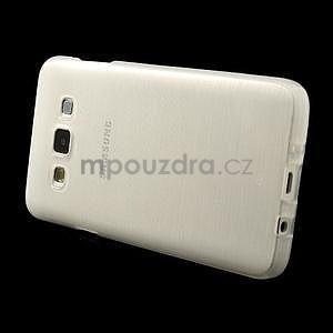 Broušené puzdro na Samsung Galaxy A3 - bílá - 3