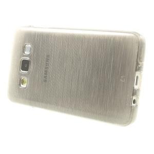 Broušené puzdro na Samsung Galaxy A3 - šedá - 3