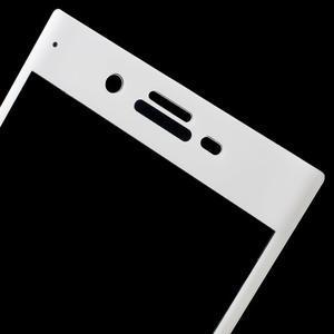 Celoplošné pretinárazové sklo pre Sony Xperia XZ - biele - 3