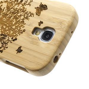 Drevené puzdro rozepínací pre Samsung Galaxy S4 - stromeček - 3