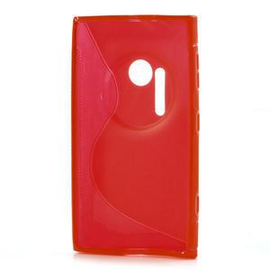 Gélové S-line puzdro pre Nokia Lumia 1020- červené - 3