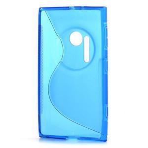 Gélové S-line puzdro pre Nokia Lumia 1020- modré - 3