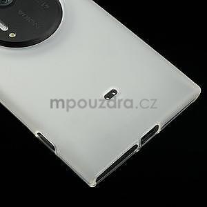 Gélové matné puzdro pre Nokia Lumia 1020- biele - 3