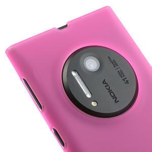 Gélové matné puzdro pre Nokia Lumia 1020- ružové - 3