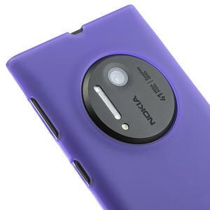 Gélové matné puzdro pre Nokia Lumia 1020- fialové - 3