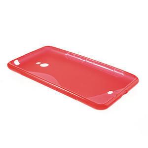 Gélové S-line puzdro pre Nokia Lumia 1320- červené - 3