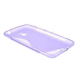 Gélové S-line puzdro pre Nokia Lumia 1320- fialové - 3