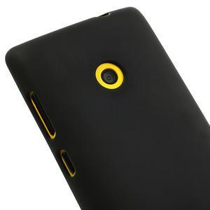 Gélové matné puzdro na Nokia Lumia 520 - čierné - 3