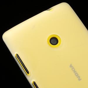 Gélové matné puzdro na Nokia Lumia 520 - biele - 3