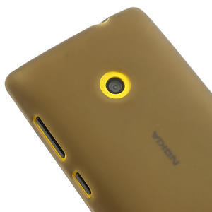 Gélové matné puzdro na Nokia Lumia 520 - šedé - 3