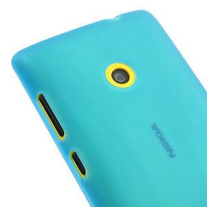 Gélové matné puzdro na Nokia Lumia 520 - svetlo modré - 3