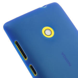 Gélové matné puzdro na Nokia Lumia 520 - modré - 3