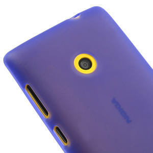 Gélové matné puzdro na Nokia Lumia 520 - fialové - 3