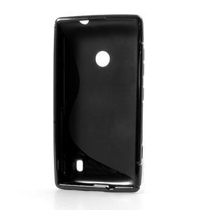 Gélové S-line puzdro na Nokia Lumia 520- čierné - 3