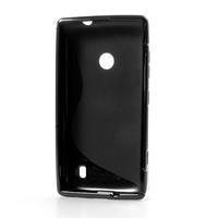 Gélové S-line puzdro na Nokia Lumia 520- čierné - 3/6