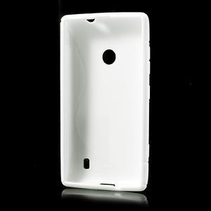 Gélové S-line puzdro na Nokia Lumia 520- biele - 3