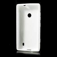 Gélové S-line puzdro na Nokia Lumia 520- biele - 3/6