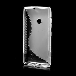 Gélové S-line puzdro na Nokia Lumia 520- transparentný - 3