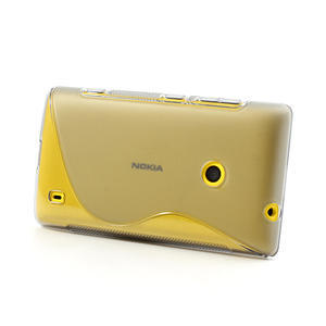 Gélové S-line puzdro na Nokia Lumia 520- sivé - 3