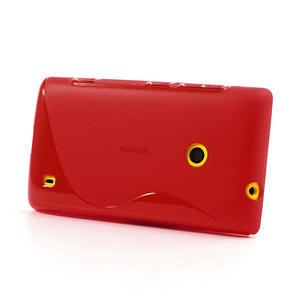 Gélové S-line puzdro na Nokia Lumia 520- červené - 3