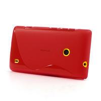 Gélové S-line puzdro na Nokia Lumia 520- červené - 3/6