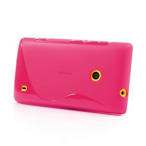 Gélové S-line puzdro na Nokia Lumia 520- růžové - 3