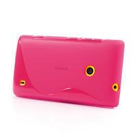 Gélové S-line puzdro na Nokia Lumia 520- růžové - 3/6